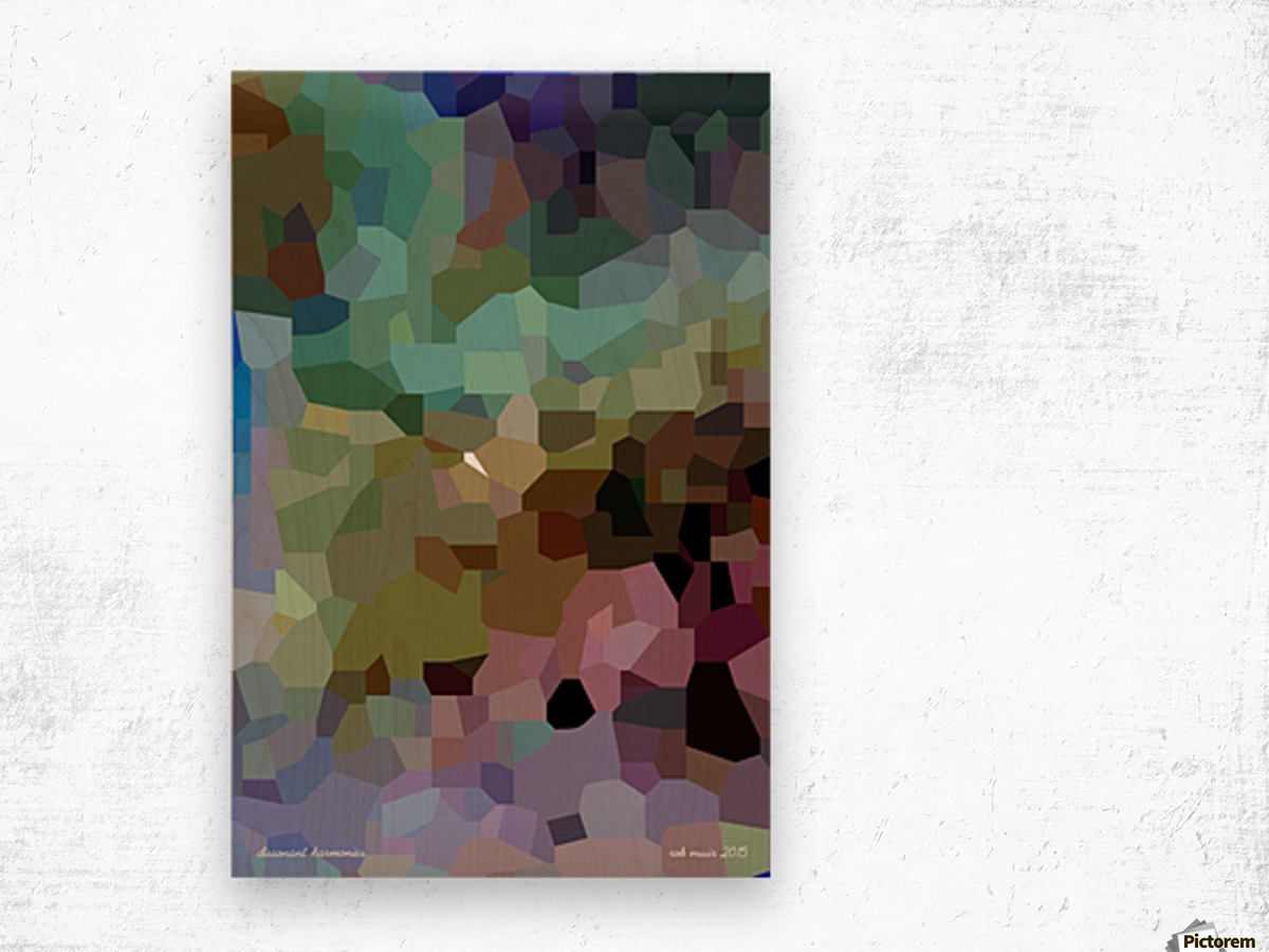 dissonant harmonies Wood print