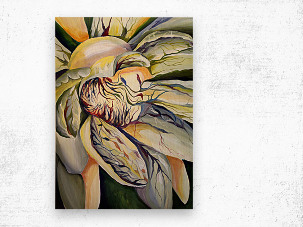 Artdeco Structural Flower Petals Wood print