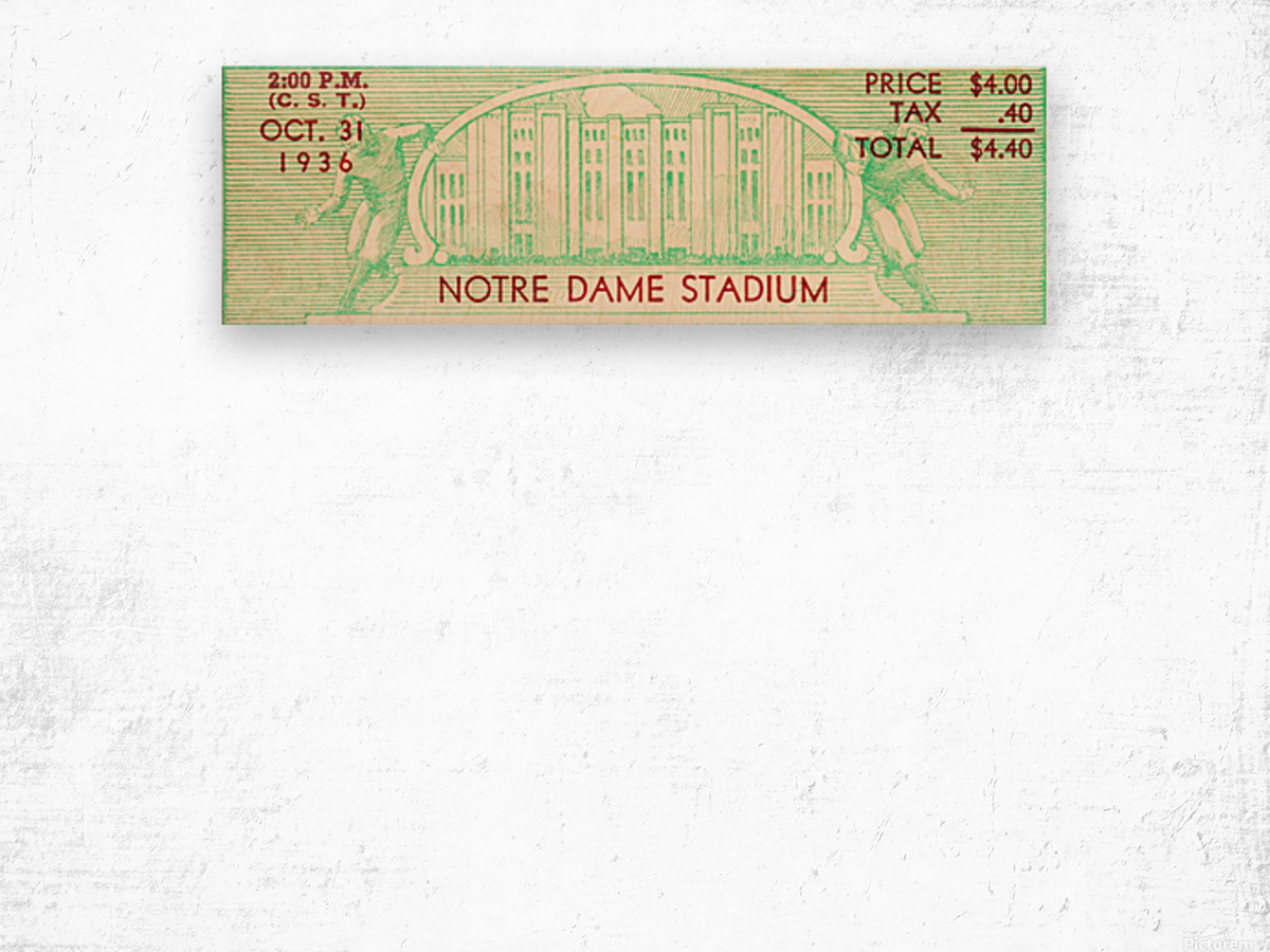 notre dame football fathers day gifts Wood print