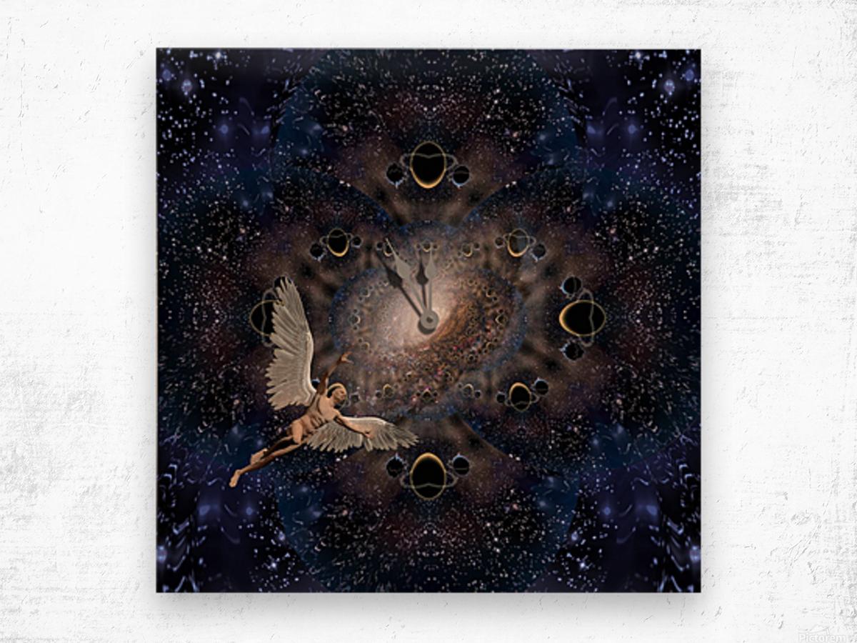Angel in Space Wood print