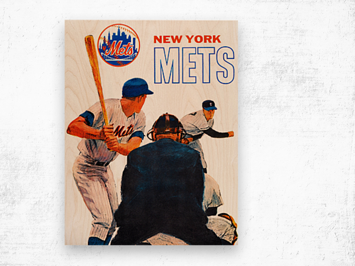 Vintage New York Mets Art Wood print
