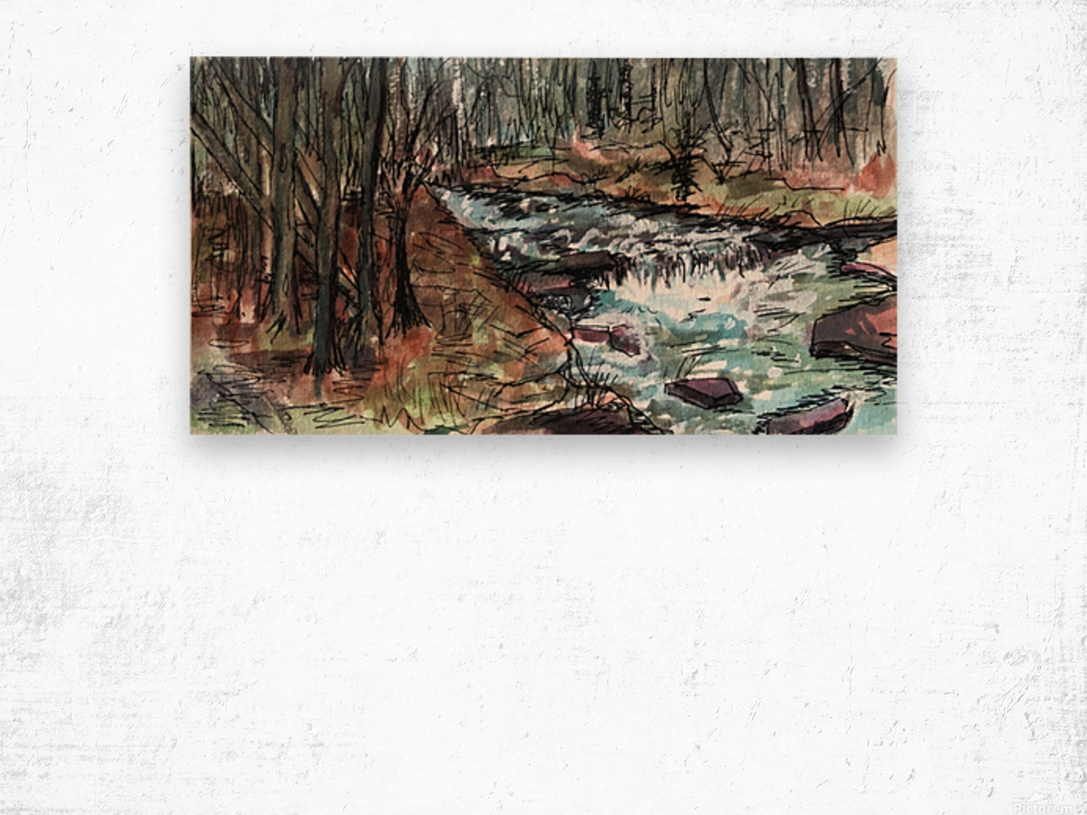 Gatlinburg Creek Wood print