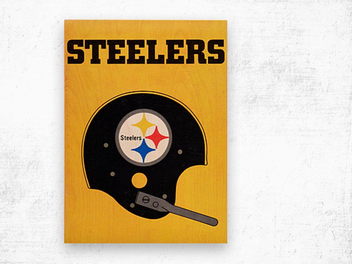 1968 Pittsburgh Steelers Helmet Art Wood print
