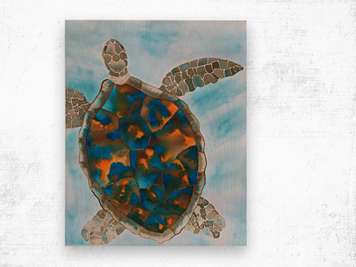 Turtle Island Breaths Again Wood print