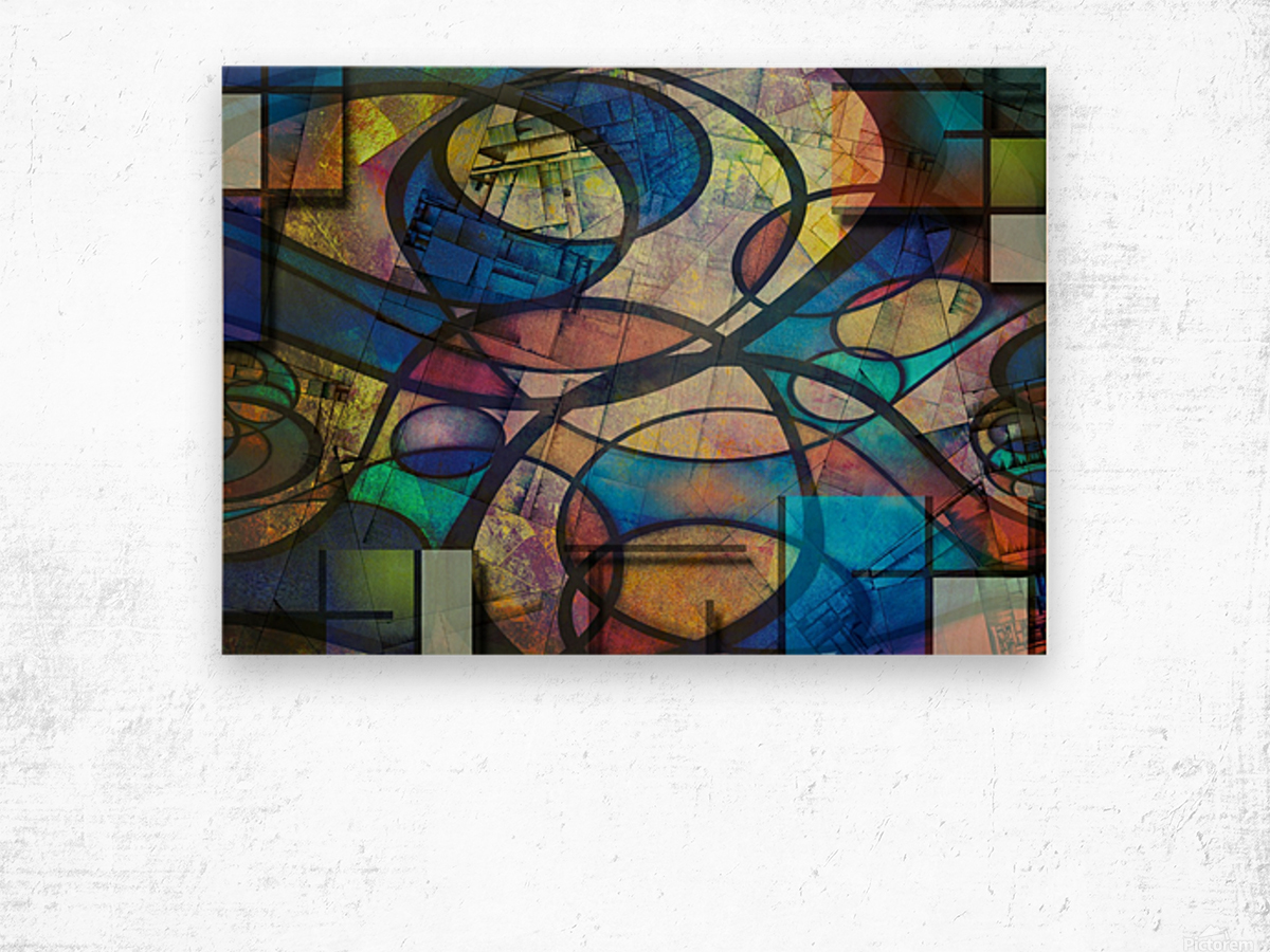 Trendy Abstract Art Wood print