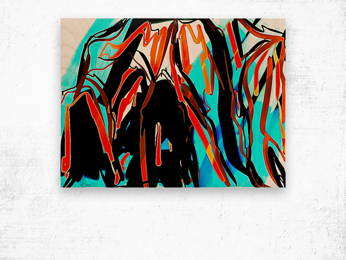 Splashes of Chatting Caribbean Lights Wood print