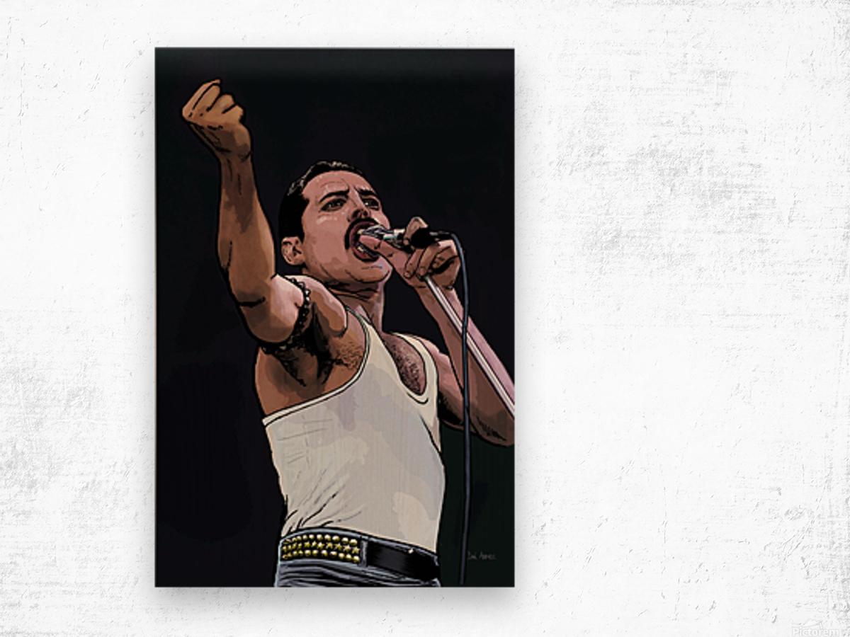 Freddie Mercury of Queen Wood print