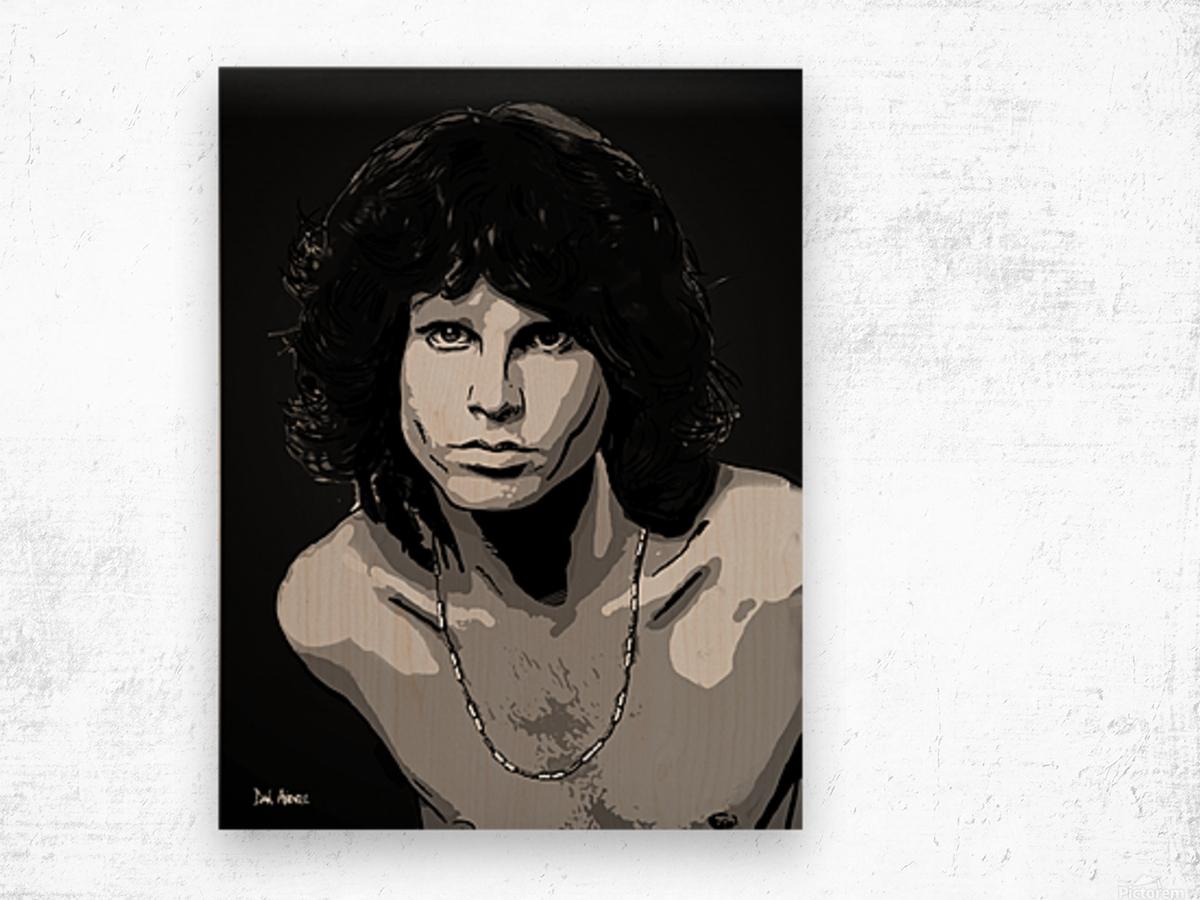Jim Morrison of The Doors  Wood print