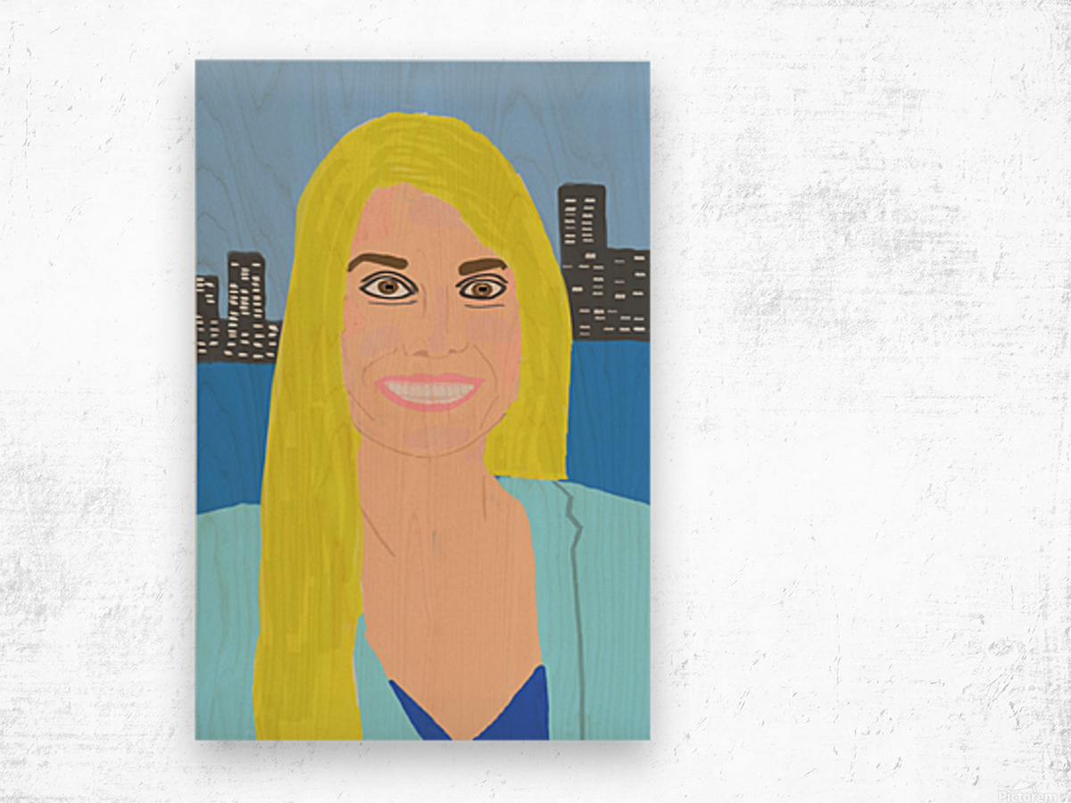 Big Smile Wood print