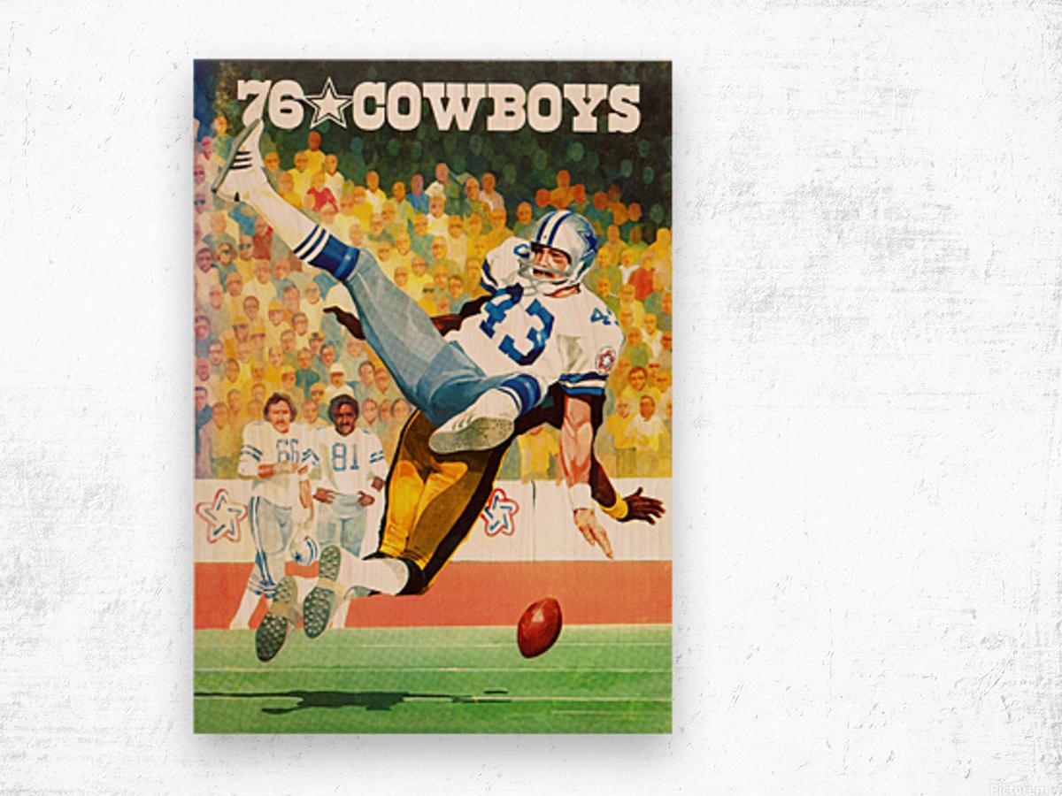 1976 Dallas Cowboys Art Wood print