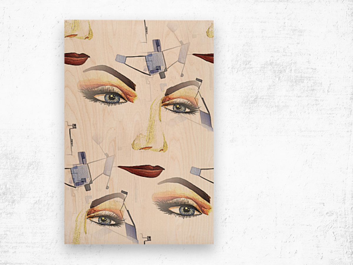 Utopian Feelings in Surreal Attitude Wood print