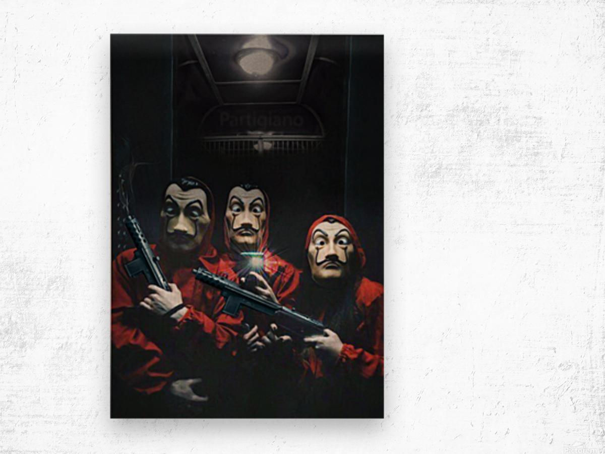 La Selfie Wood print