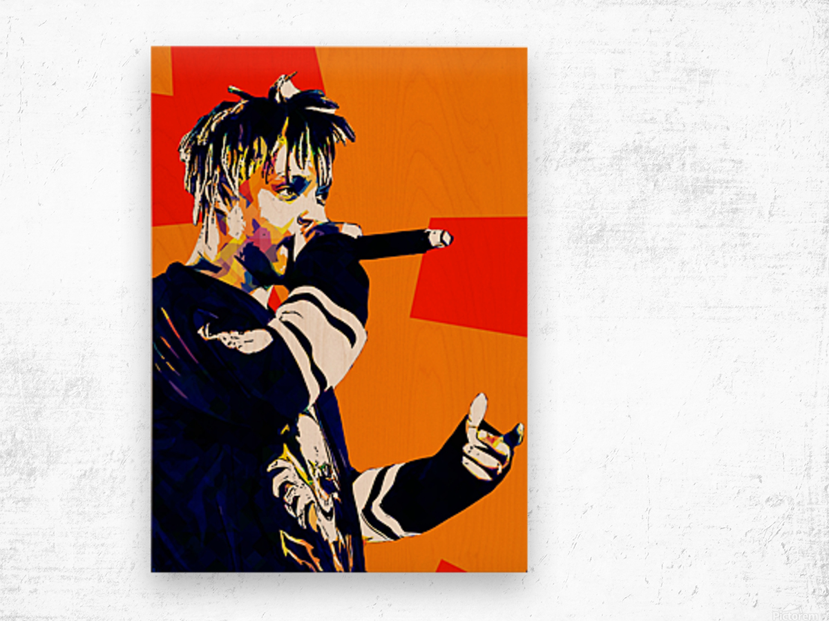 Juice Wrld Best American Rapper Art Style 15 Wood print