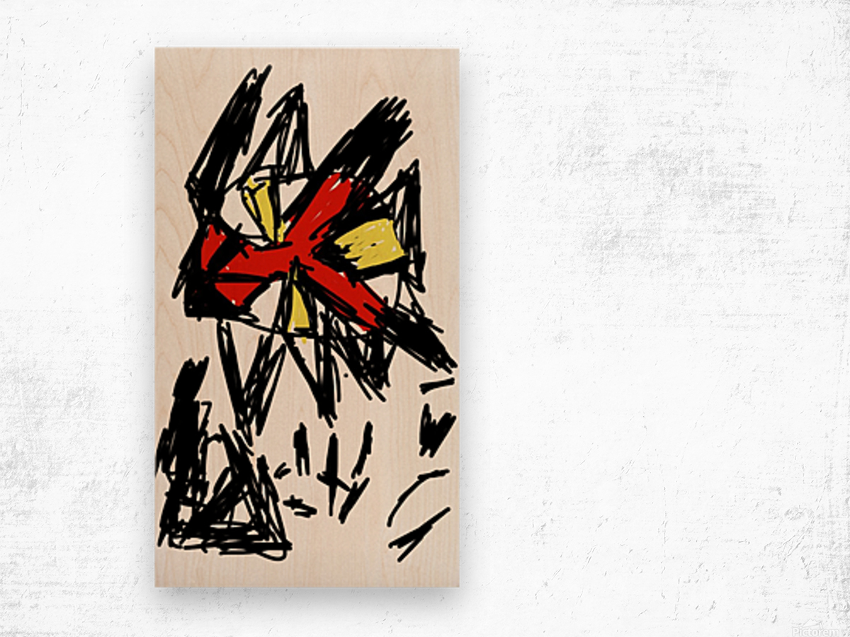indifference leads to destruction Wood print