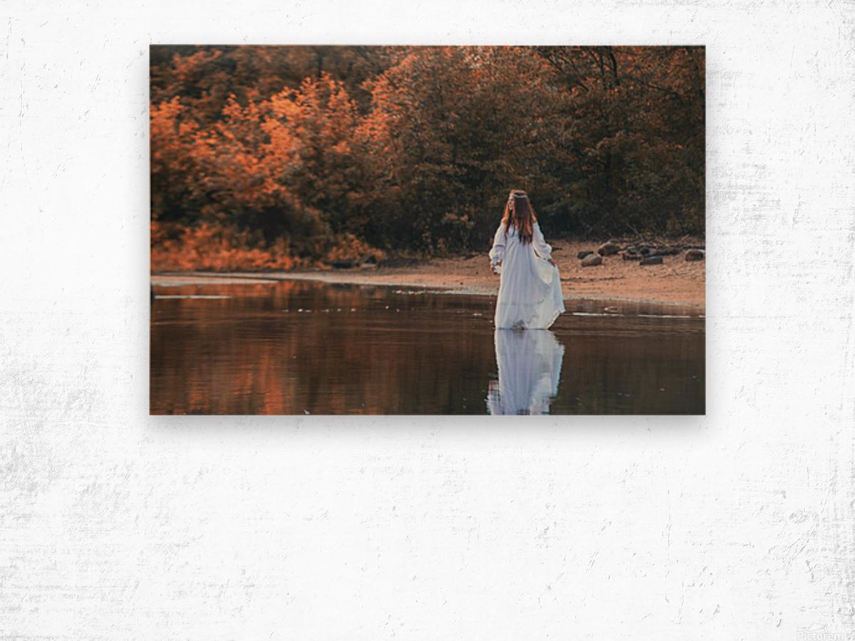 La dame du lac 2 Wood print