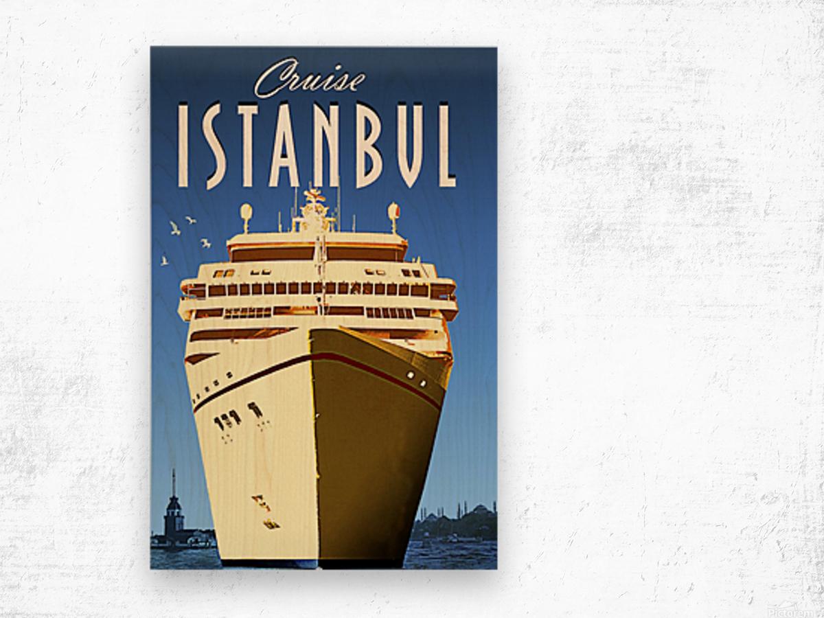 Cruise Istanbul Wood print