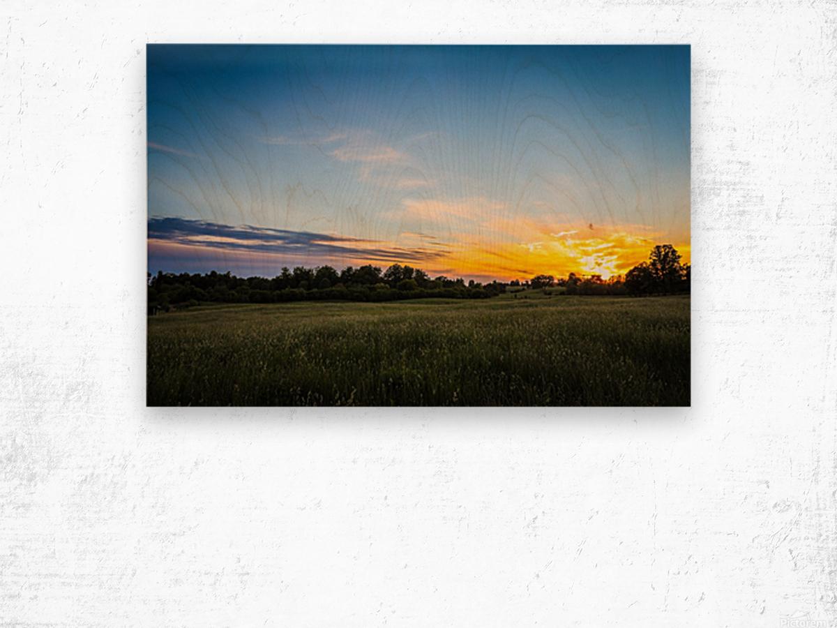 Creekside Sunset 2 Wood print
