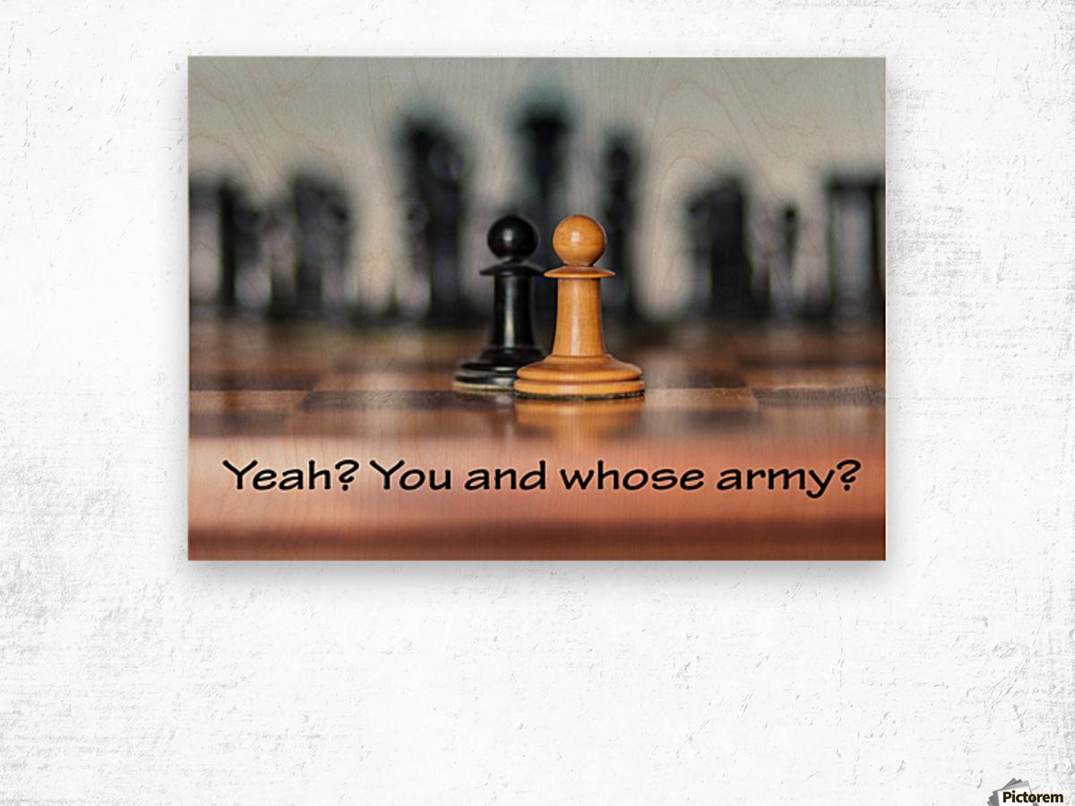 Chess battle Wood print