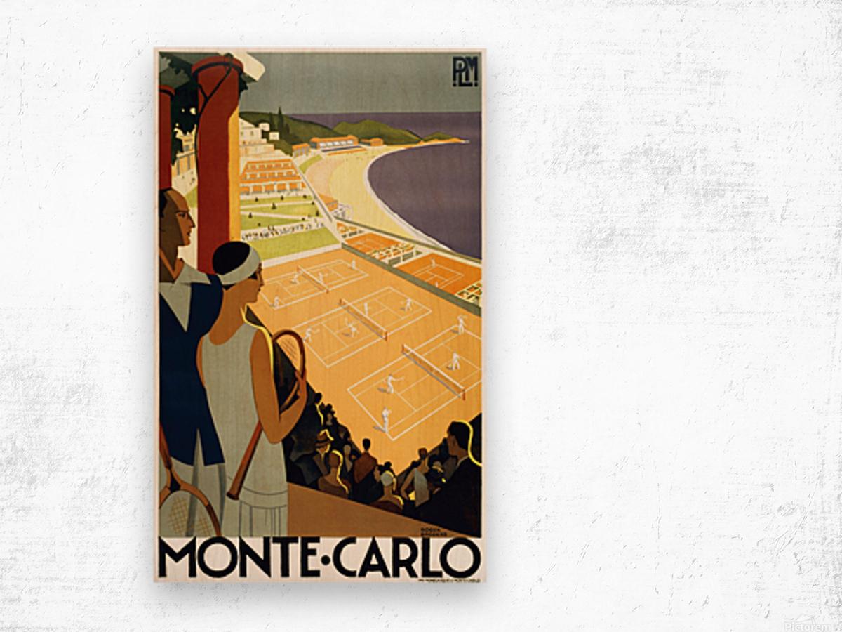 Tennis in Monte Carlo Wood print