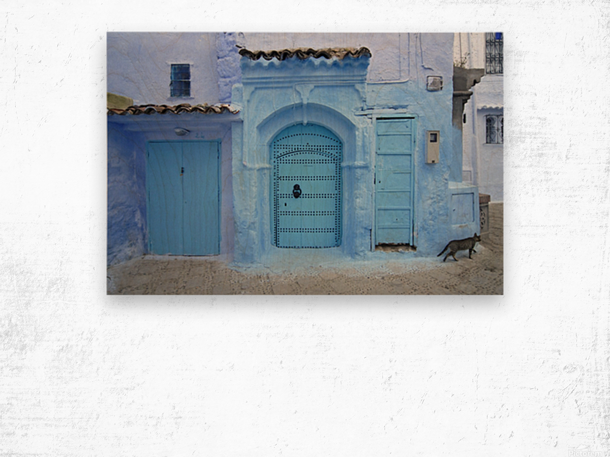 Chefchaouen Medina Morocco Wood print