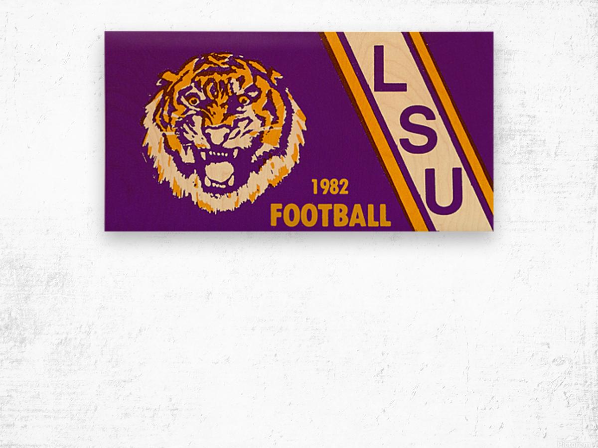 1982 LSU Football Wood print