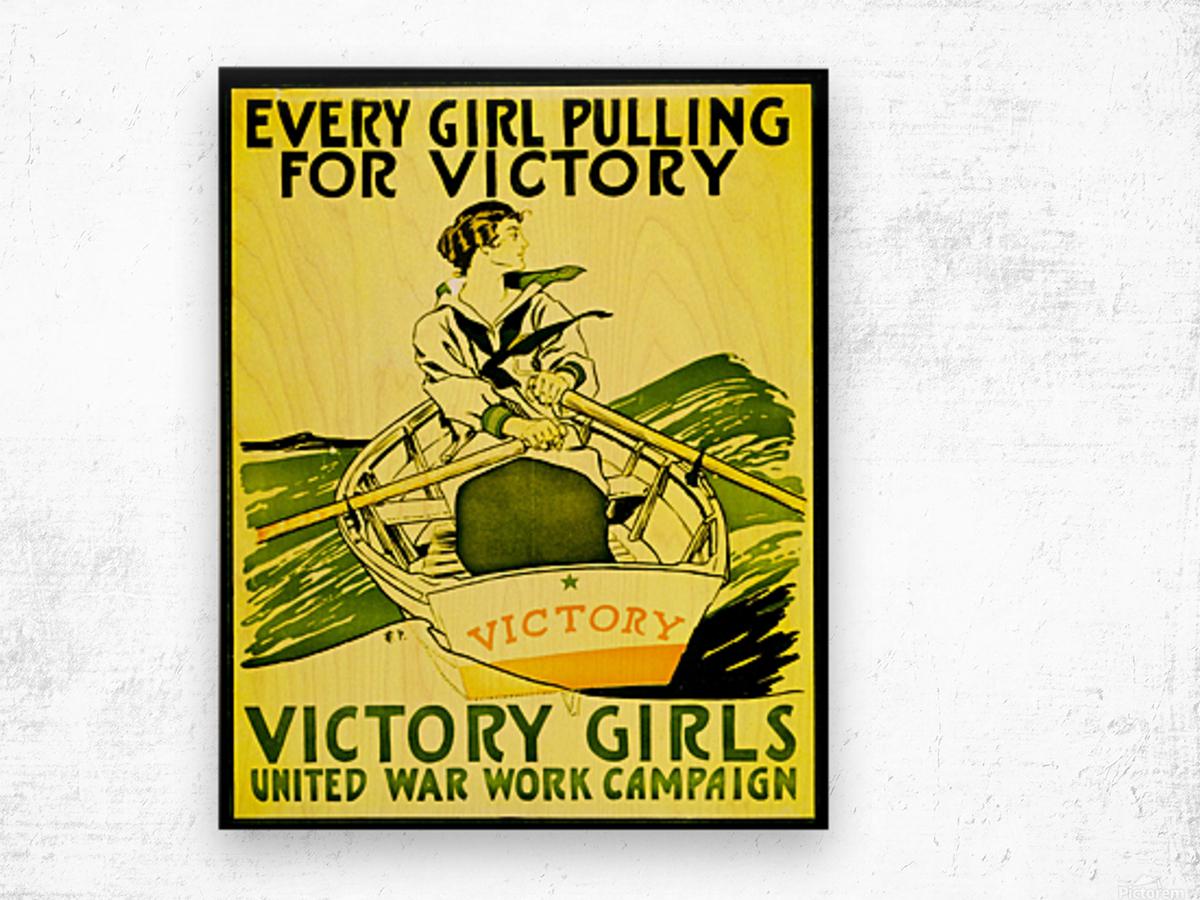 Victory Girls Wood print