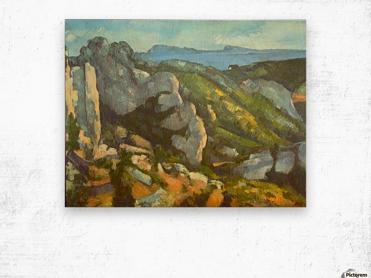 L Estaque by Cezanne Wood print