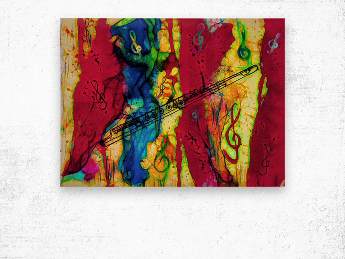 Flute Electrified Wood print