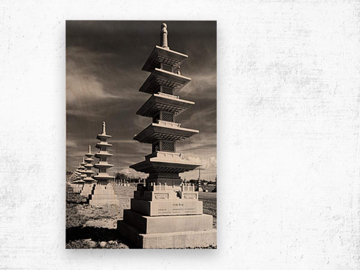 Vanishing Towers of Wutai Shan Wood print
