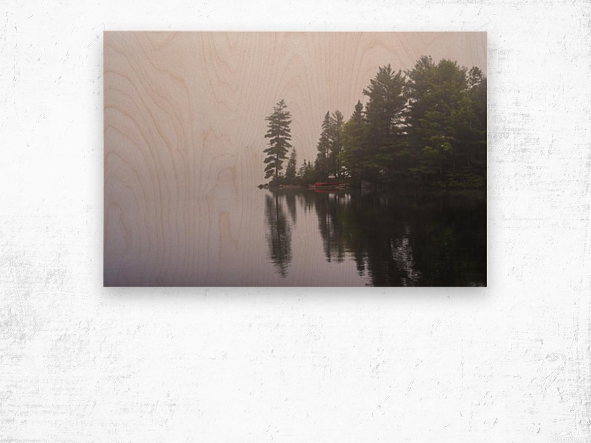 Koshlong Lake Fog Wood print