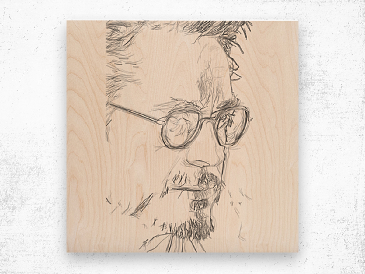 Robert Downy Jr. - Celebrity Pencil Art Wood print