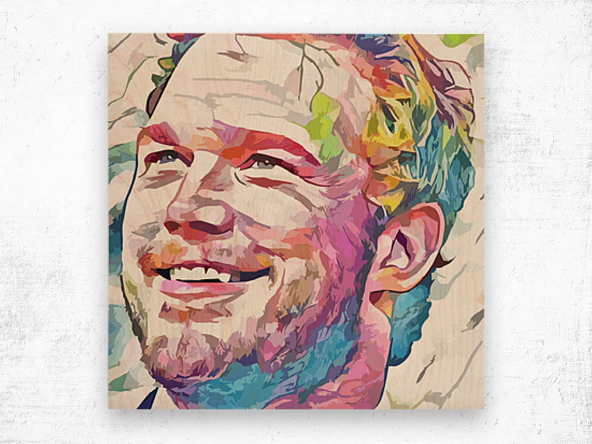 Chris Pratt - Celebrity Abstract Art Wood print