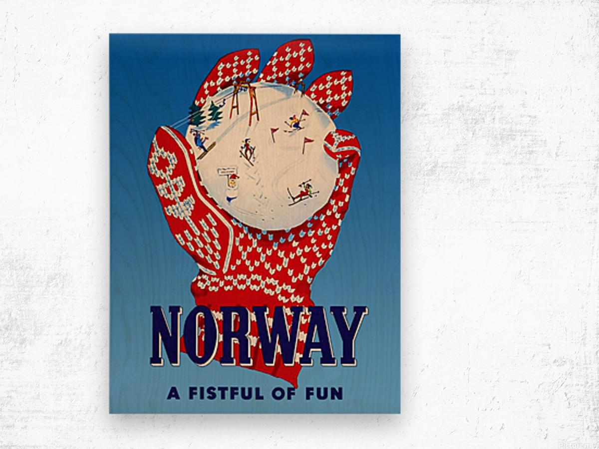 Norway Fistful of Fun Wood print