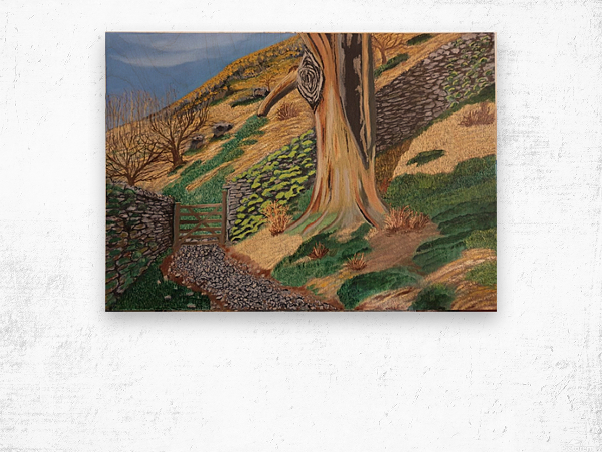 Path to Rydal Mount Wood print