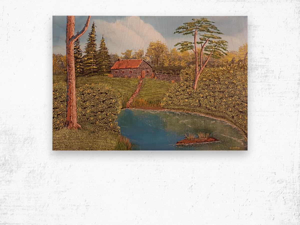 Hunting lodge Wood print