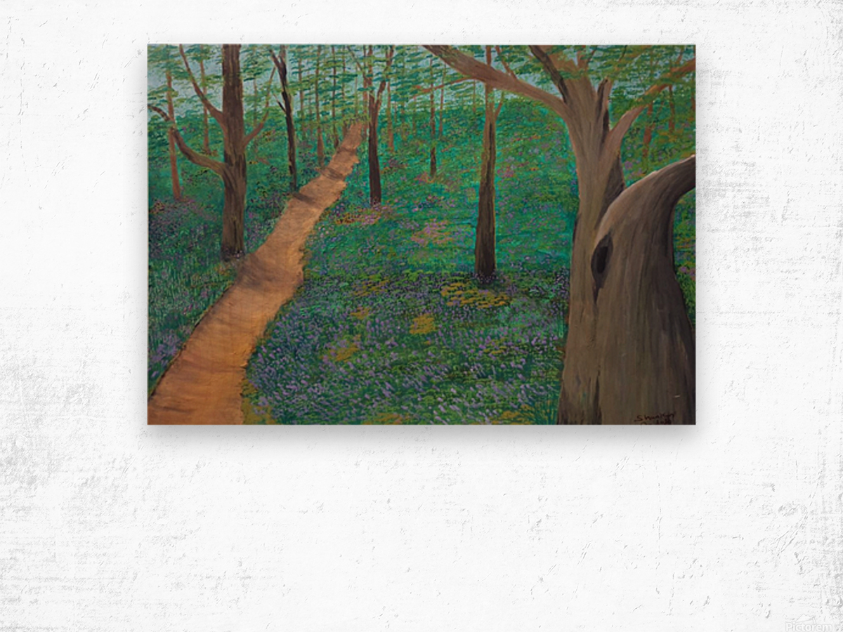 Bluebell woods oxford Wood print