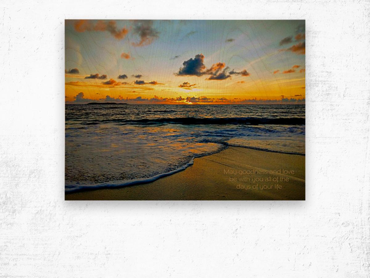 Goodness_and_love_bahamas Wood print