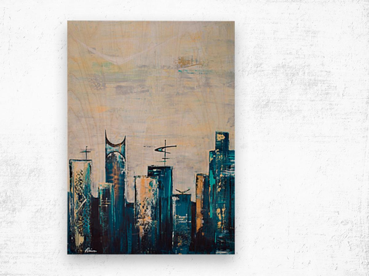 Uptown IX  Wood print