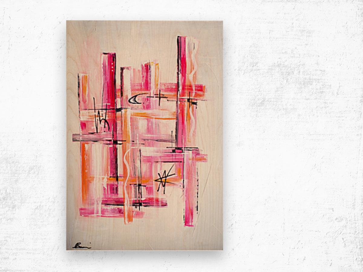 Pink Lady Wood print