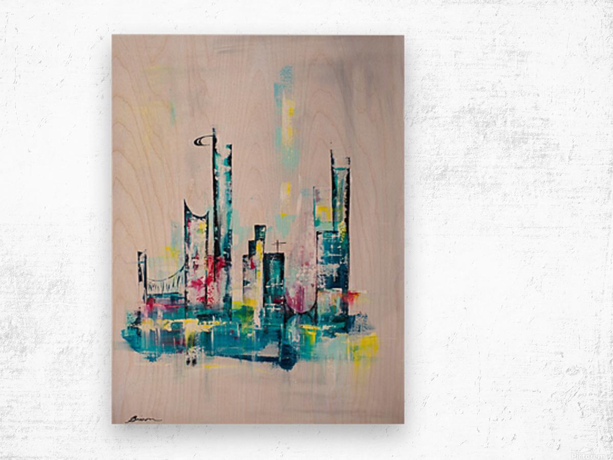 Uptown Wood print