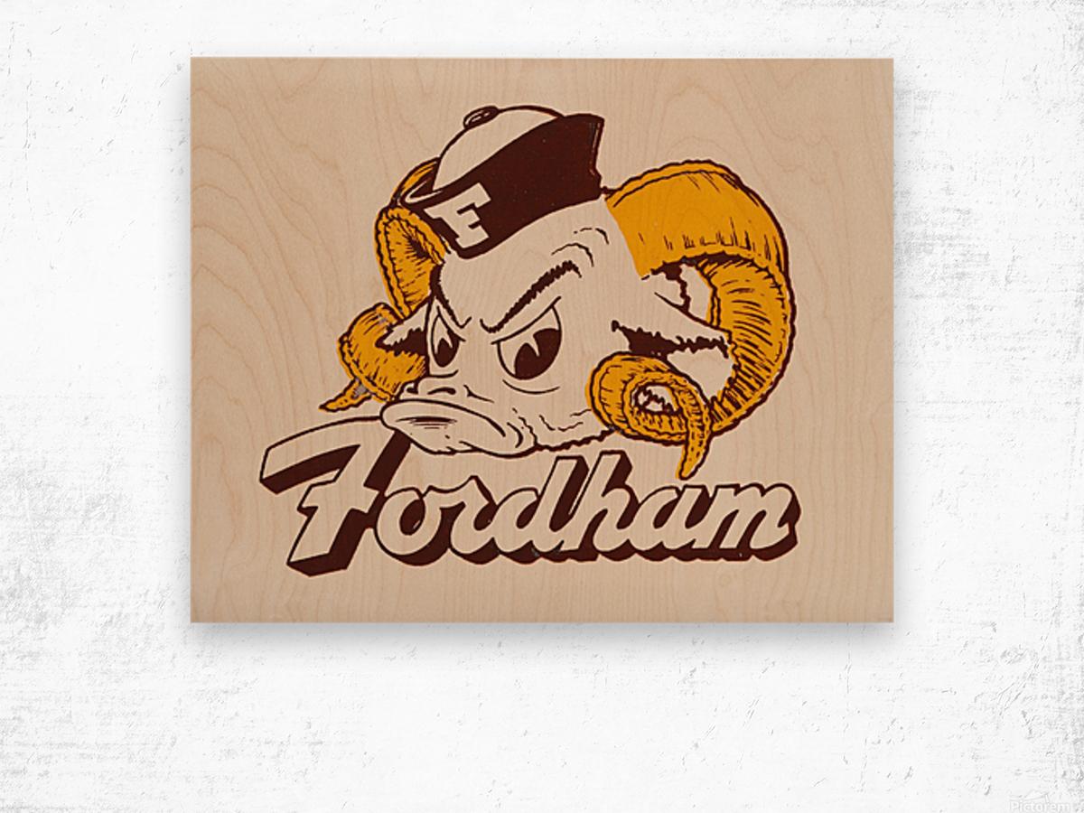 vintage fordham ram mascot college art Wood print
