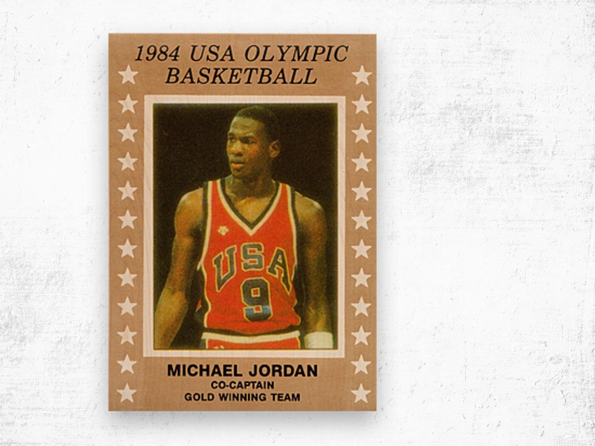1984 USA Olympic Basketball Michael Jordan Wood print