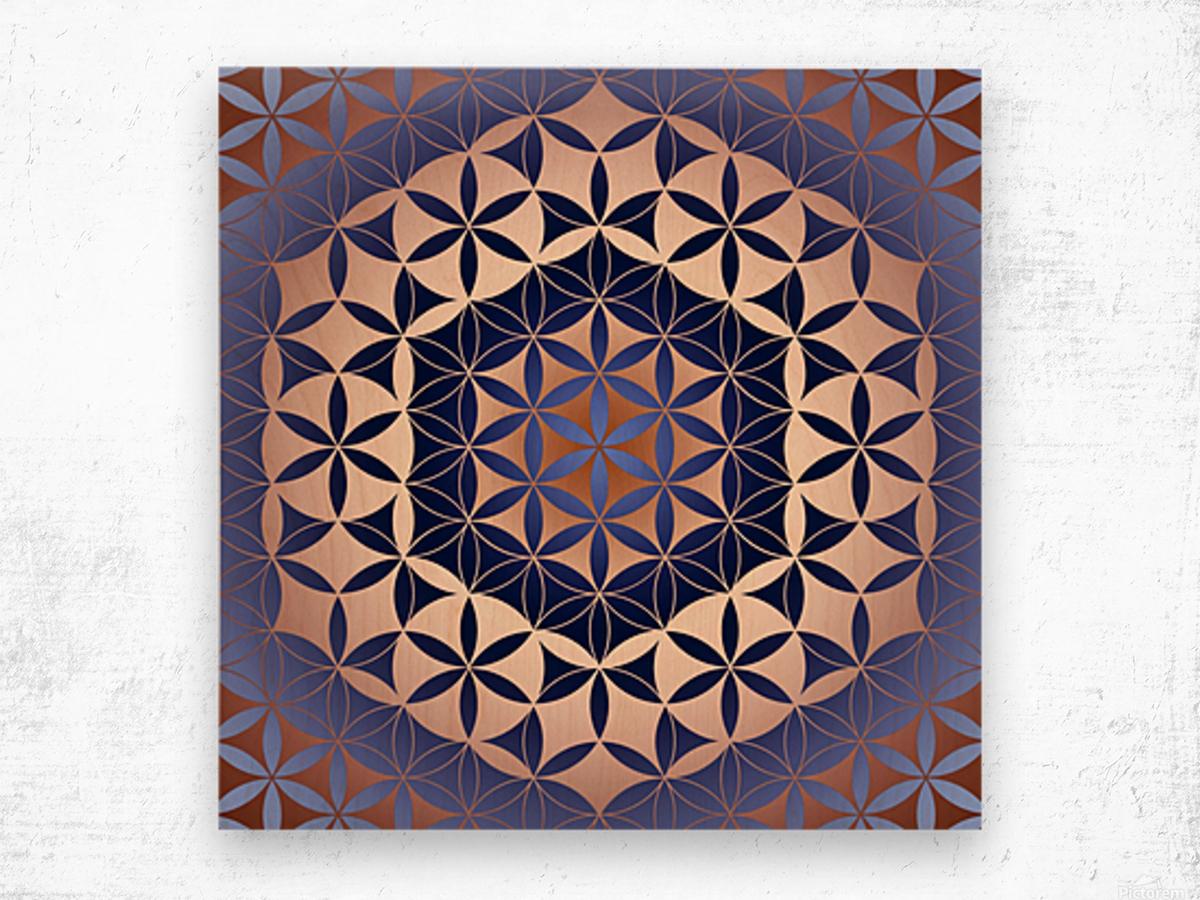 Flower of Life Mandala Pattern Wood print