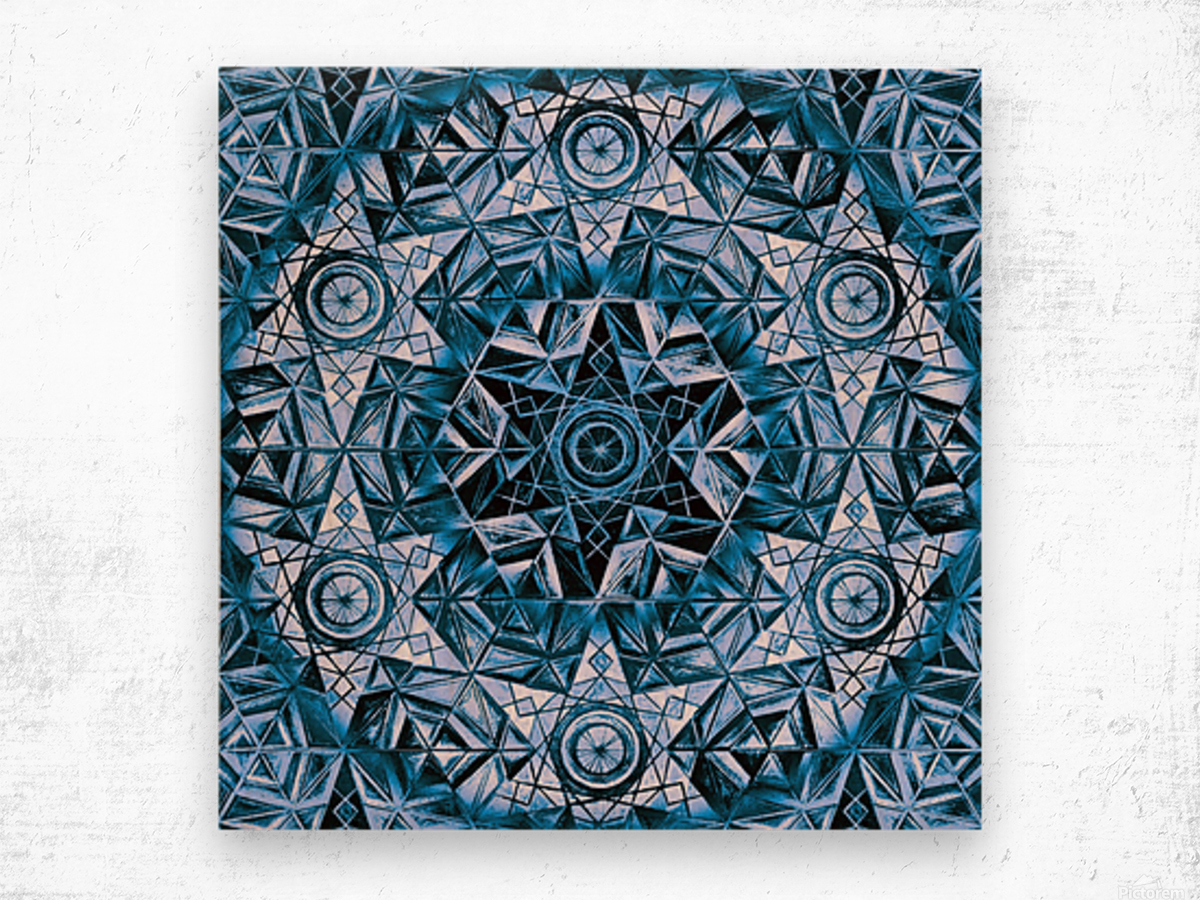 Sacred Geometry Handdrawing Pattern Wood print