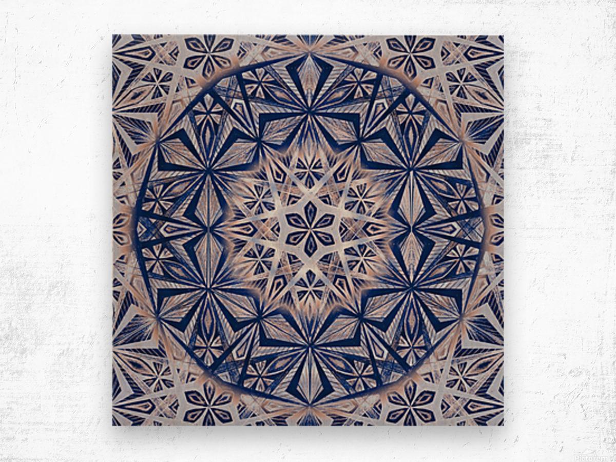 Vintage Kaleidoscope Handdrawing Wood print