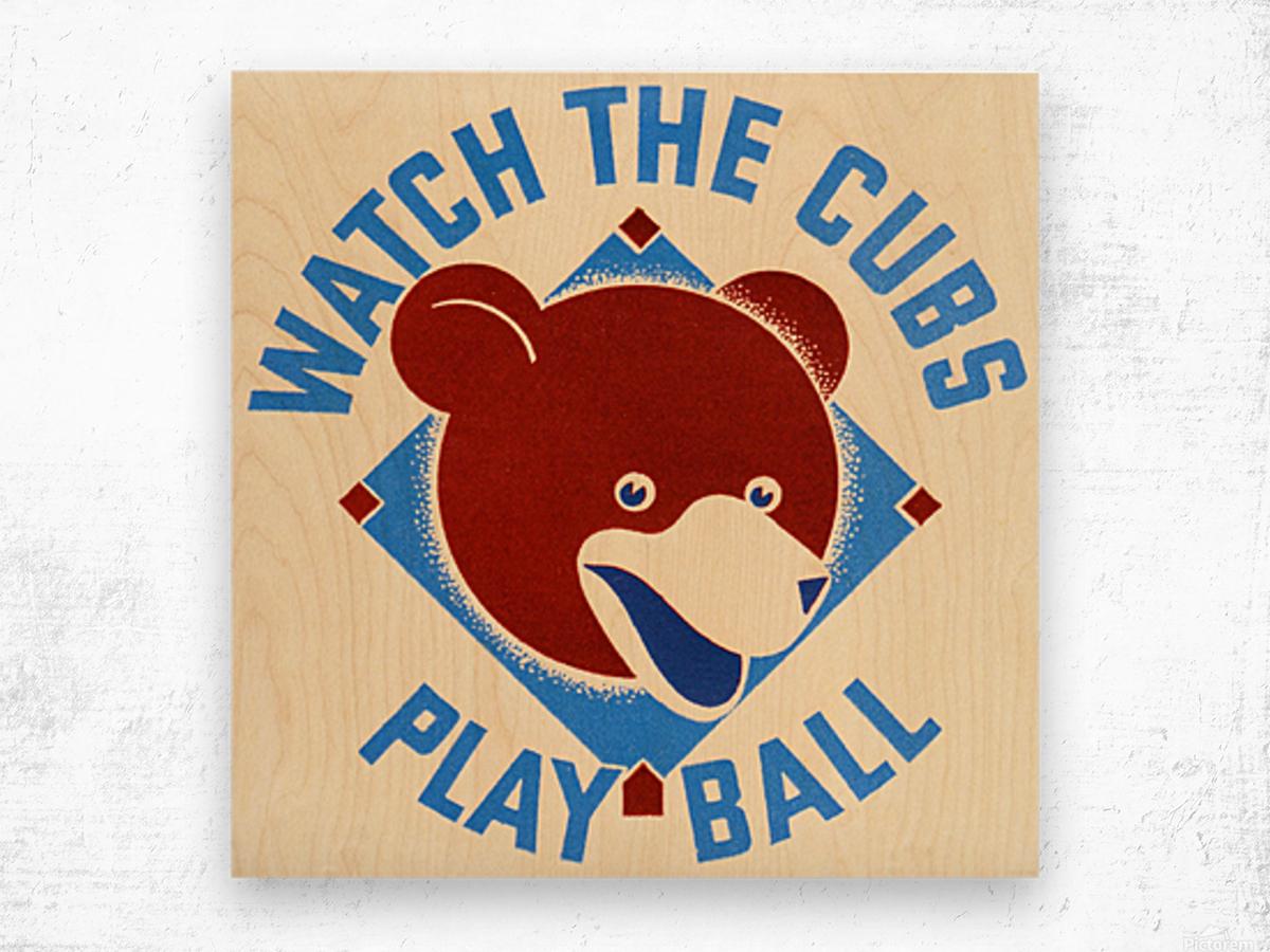 1940_Major League Baseball_Chicago Cubs Wood print