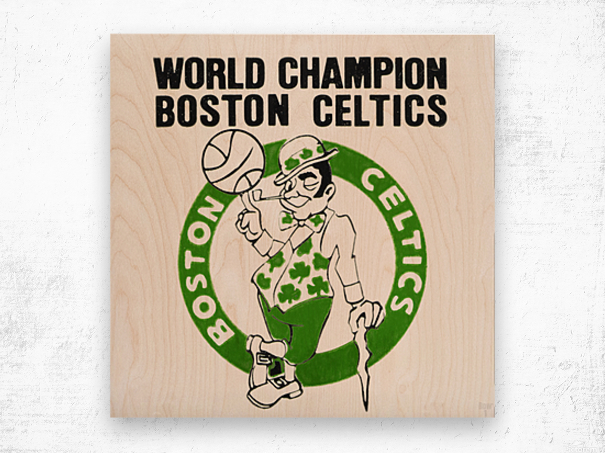 1981 Boston Celtics World Champions Art Reproduction Wood print