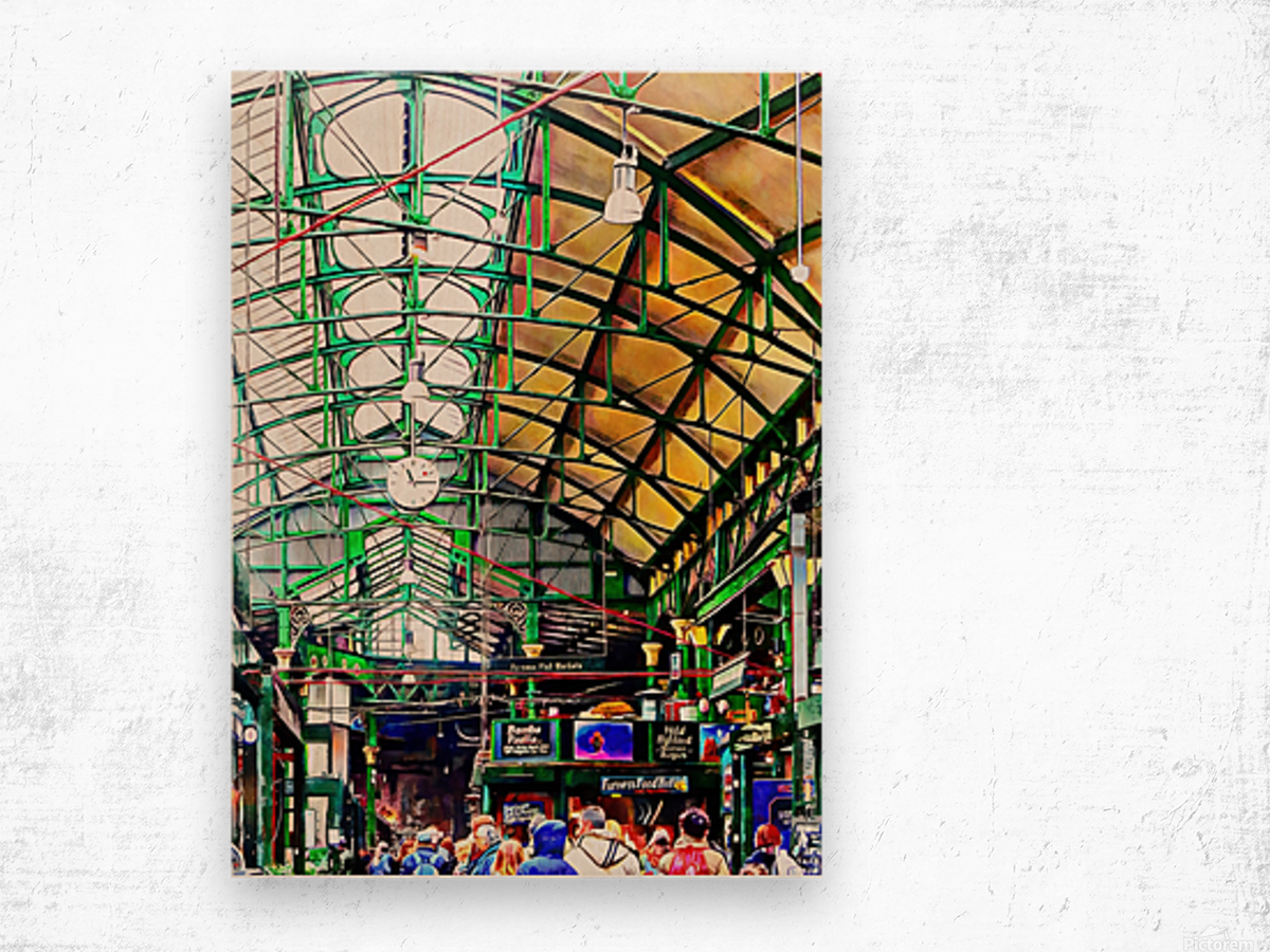 Roof Over Borough Market Wood print