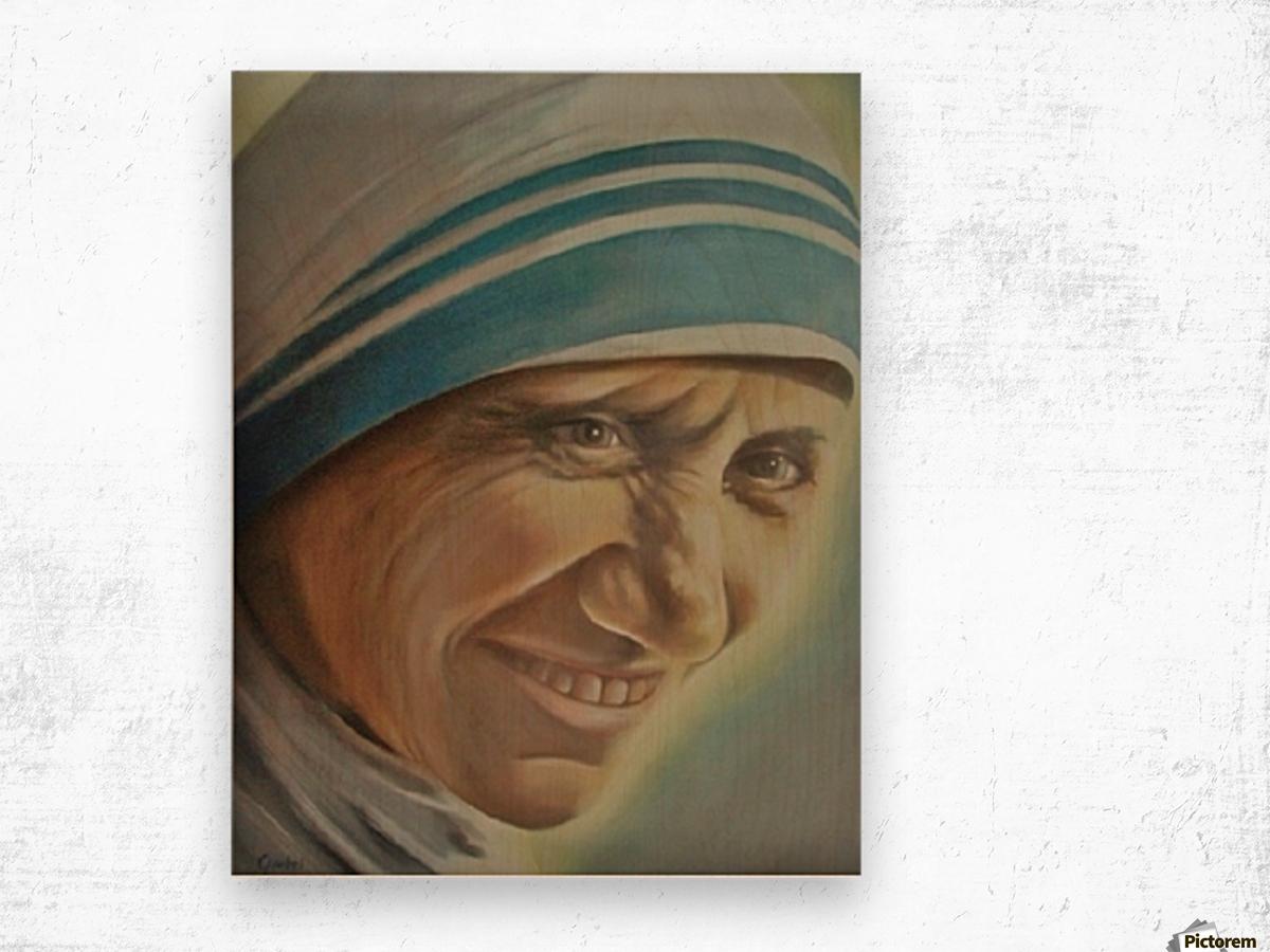 Mother Teresa (c) Wood print