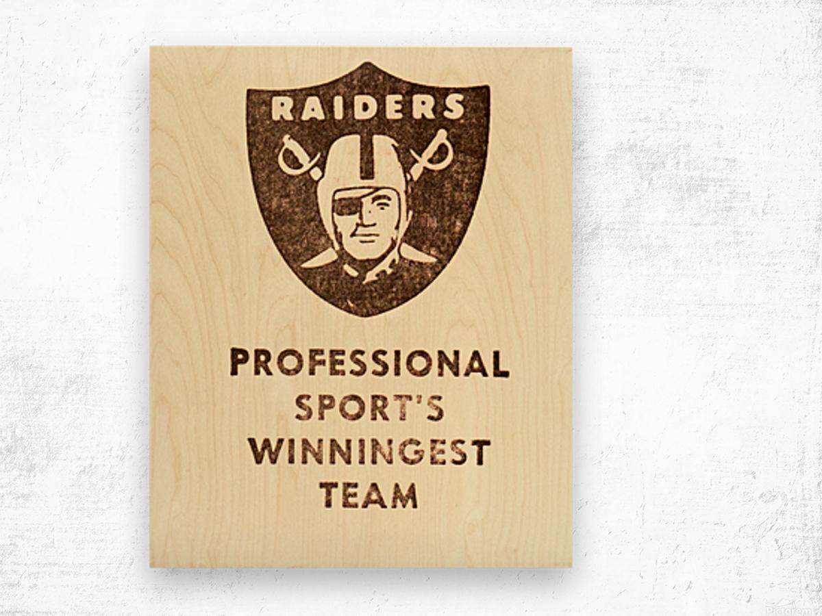 1983 Los Angeles Raiders Wood print
